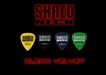 "Shredneck ""CLEAR VELVET"" Guitar Picks - 60 Picks - Assorted Colors"