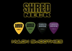 "Shredneck ""NYLON SMOOTHIES"" Guitar Picks - 60 Picks - Assorted Colors"