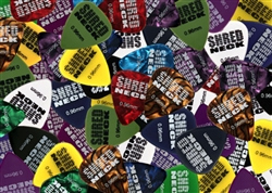 "Shredneck ""CLEARS"" Guitar Picks - 12 Picks Per Package - Assorted Colors"