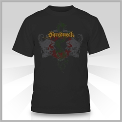 Limited Edition Shredneck Skulls & Dragon T-shirt.  Black.  High Quality Gildan 50% Cotton / 50% Polyester Preshrunk T-shirt