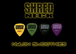 "Shredneck ""NYLON SMOOTHIES"" Guitar Picks - 12 Picks Per Package - Assorted Colors"