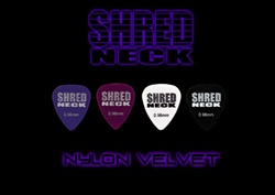 "Shredneck ""NYLON VELVET"" Guitar Picks - 12 Picks Per Package - Assorted Colors"