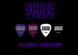 "Shredneck ""NYLON VELVET"" Guitar Picks - 60 Picks - Assorted Colors"
